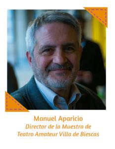 Manuel Aparicio Director de la Muestra de Teatro Amateur Villa de Biescas